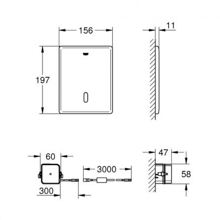 Grohe Tectron Skate Инфракрасная электроника для унитаза 38698 SD1