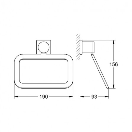 Grohe Allure Кольцо для полотенца 40339 000