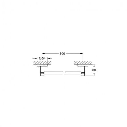 Grohe Essentials Полотенцедержатель 80 см 40386 001