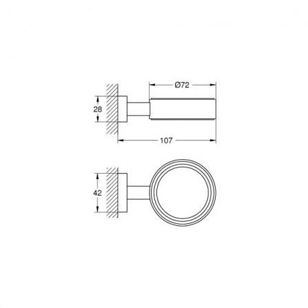 Grohe Essentials Cube Держатель стакана, мыльницы, дозатора 40508 001
