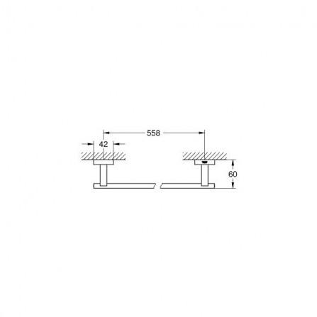 Grohe Essentials Cube Полотенцедержатель 55 см 40509 001