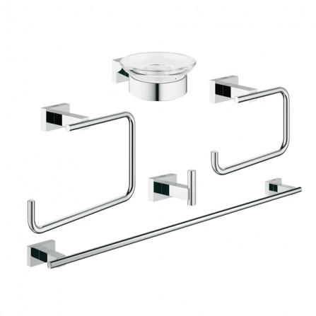 Grohe Essentials Cube Набор аксессуаров 5 в 1 Master Bathroom 40758 001