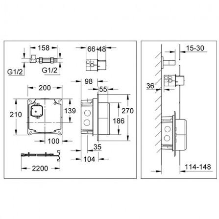 Grohe Набор коробов для инфракрасной электроники 36264 001
