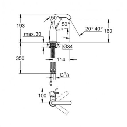 Grohe Essence Смеситель для раковины M-Size 23480 001
