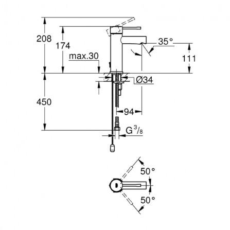 Grohe Essence Смеситель для раковины S-Size 32899 001