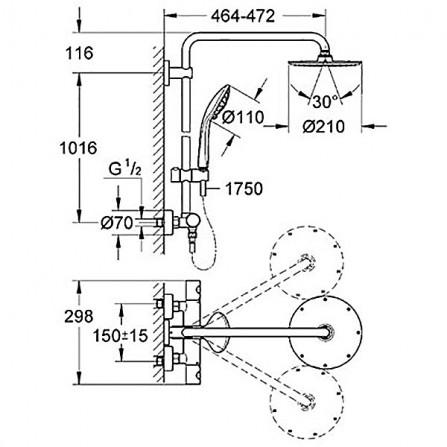 Grohe Euphoria System 210 Душевая система для душа 27964 000
