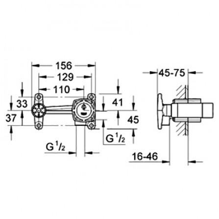 Grohe Механизм Смеситель для раковины на 2 отверстия, СМ 23319 000