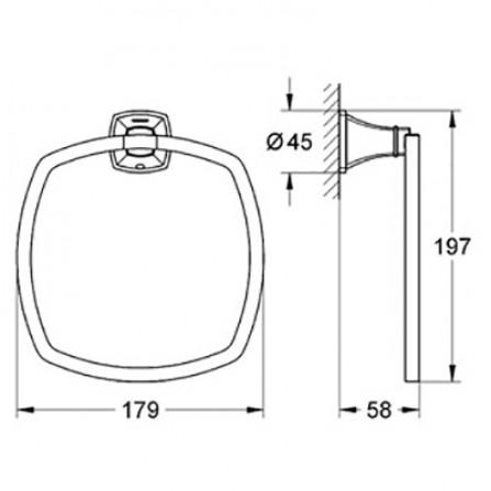 Grohe Grandera Кольцо для полотенца 40630 000