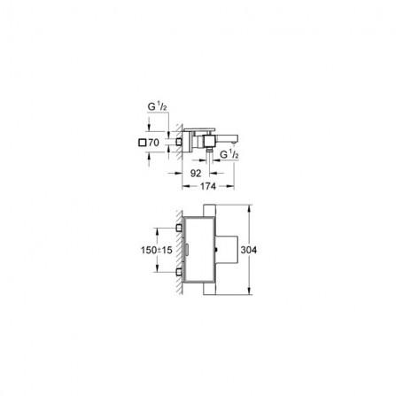 Grohe Grohtherm Cube Термостат для ванны 34502 000