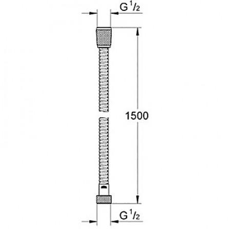 Grohe Шланг 1,5 м металл 28143 LS0 белая луна