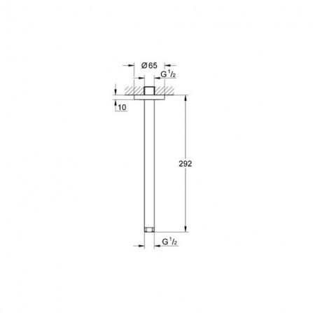 Grohe Rainshower Потолочный кронштейн 292 мм 28497 000