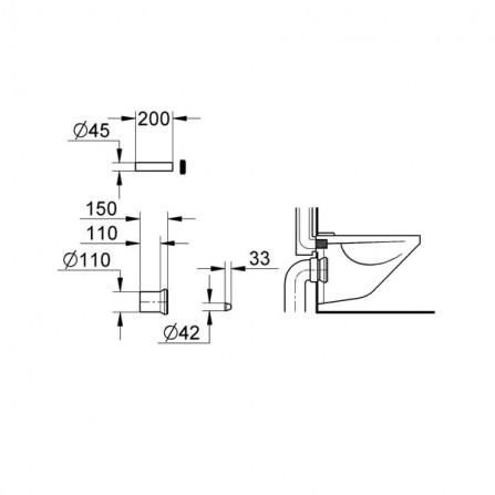 Grohe Rapid Впускной и смывной гарнитуры для унитаза 37104 00К