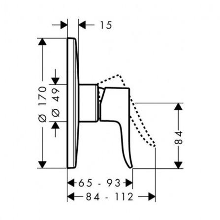 Hansgrohe Metris Смеситель для душа Highflow, СМ 31652000