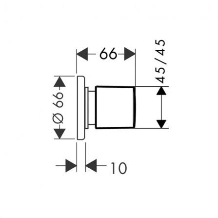 Hansgrohe Запорный вентиль, панель, СМ 31677000