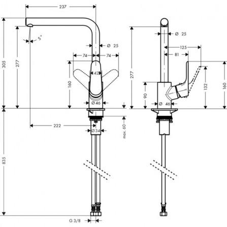 Hansgrohe Focus 280 Смеситель для кухни 31817800