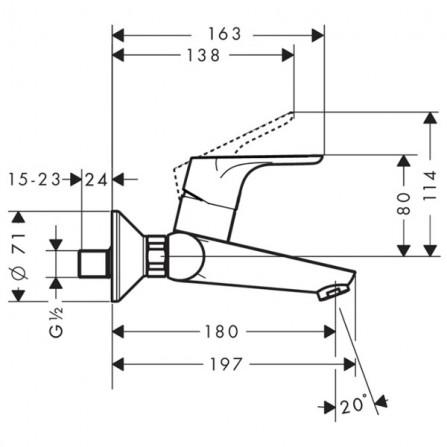 Hansgrohe Focus Смеситель для раковины на 2 отв 31923000
