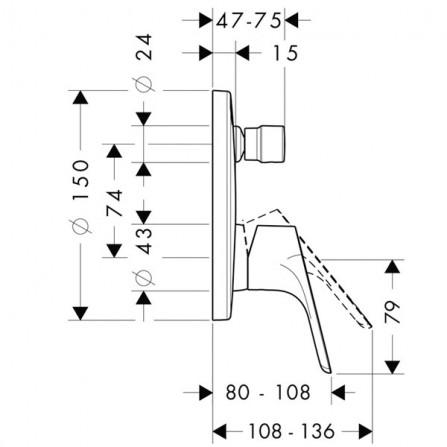 Hansgrohe Focus Смеситель для ванны, СМ 31946000
