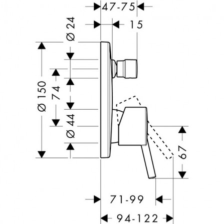 Hansgrohe Talis Смеситель для ванны, СМ 32477000