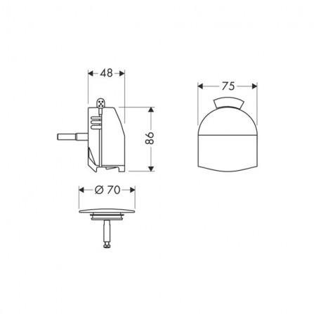 Hansgrohe Exafill Plus Сточный комплект с функцией налива, панель 58128000