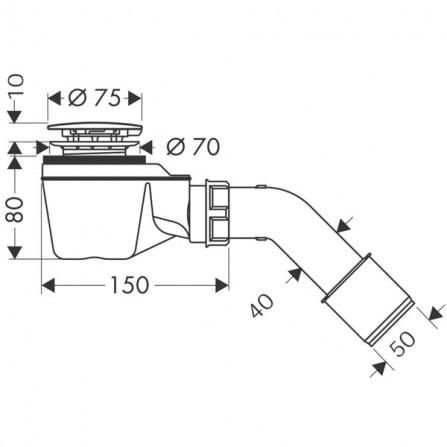 Hansgrohe Staro '52 Сифон для поддона 60060000