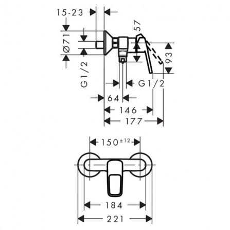 Hansgrohe Logis Loop Смеситель для душа, ВМ 71247000