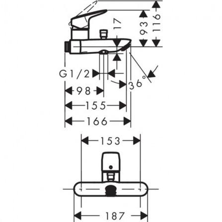Hansgrohe Logis Смеситель для ванны 71430000