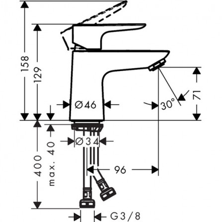 Hansgrohe Talis E 80 Смеситель для раковины 71702000