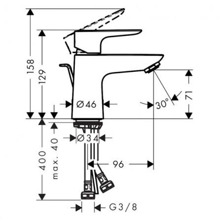 Hansgrohe Talis E 80 Смеситель для раковины 71703000