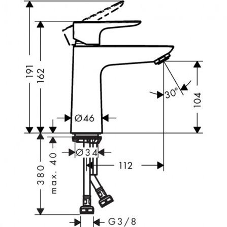Hansgrohe Talis E 110 Смеситель для раковины 71712000
