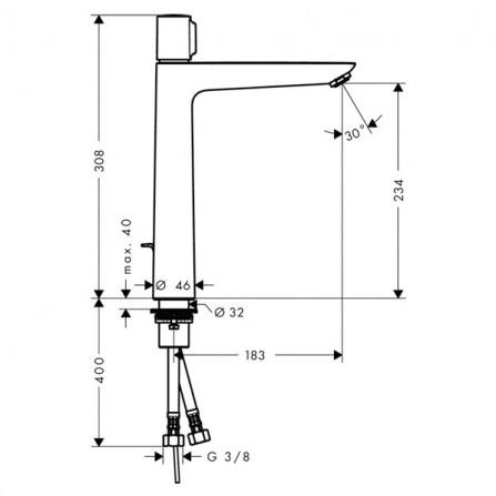 Hansgrohe Talis Select E 240 Смеситель для раковины 71752000