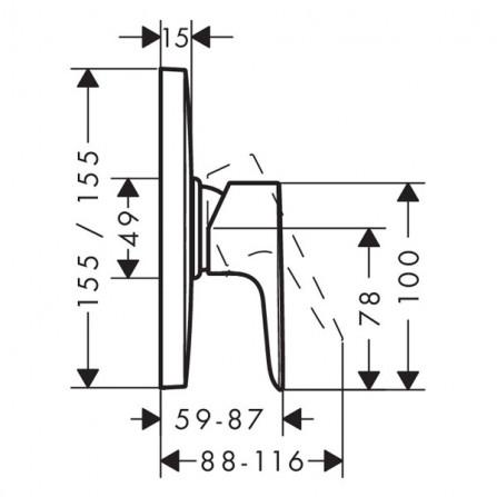 Hansgrohe Talis E Смеситель для душа Highflow, СМ 71768000