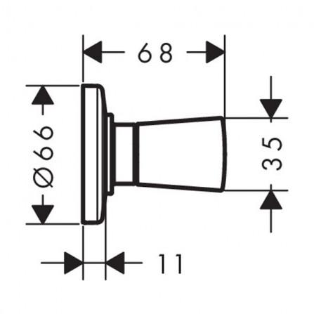Hansgrohe Logis Запорный вентиль, панель, СМ 71970000