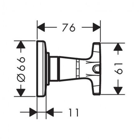 Hansgrohe Logis Classic Запорный вентиль, панель, СМ 71976000