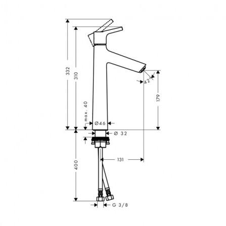 Hansgrohe Talis S 190 Смеситель для раковины 72032000