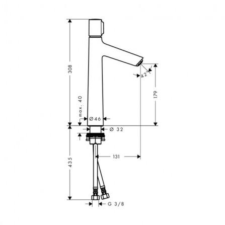 Hansgrohe Talis Select S 190 Смеситель для раковины 72045000