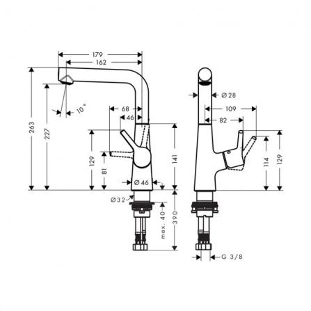 Hansgrohe Talis S 210 Смеситель для раковины 72105000
