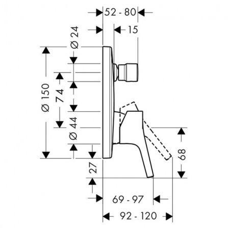 Hansgrohe Talis S Cмеситель для ванны, СМ 72406000
