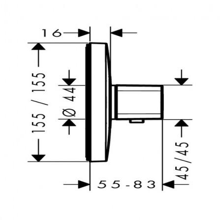 <b>Notice</b>: Undefined variable: alt_image in <b>/home/s/sanlifmd/sanlife.ru/public_html/catalog/view/theme/santehnika/template/product/product.tpl</b> on line <b>167</b>Hansgrohe Ecostat E Термостат центральный, СМ 15705000