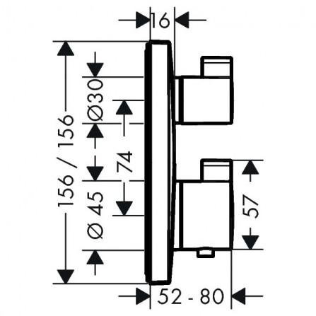 Hansgrohe Ecostat Термостат, 1 потребитель, СМ 15712000