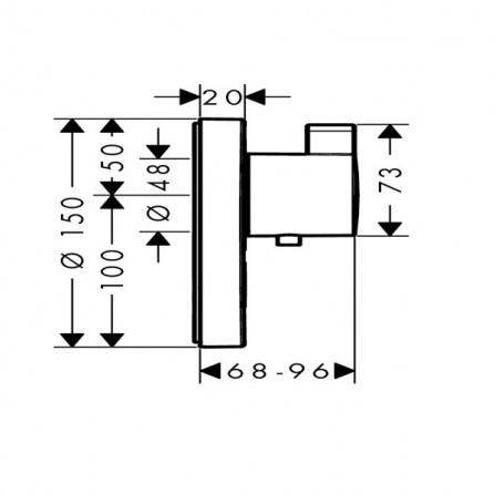 Hansgrohe ShowerSelect S Highflow Термостат, 1 потребитель + клапан, СМ 15742000