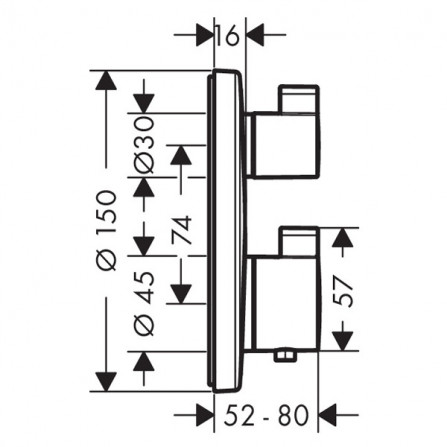 Hansgrohe Ecostat S Термостат, 1 потребитель, СМ 15757000
