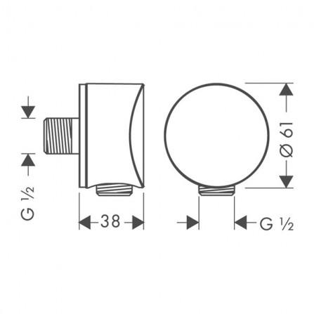Hansgrohe FixFit S Шланговое подсоединение 26453000