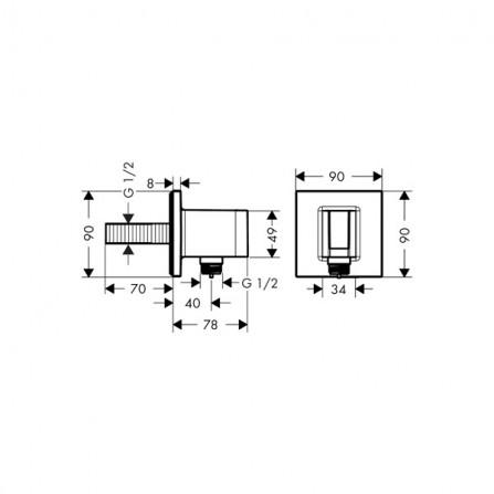 Hansgrohe Fixfit Porter Square Держатель ручного душа 26486000