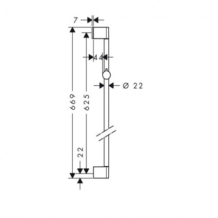 Hansgrohe Unica Croma 65 Душевая штанга 26505000