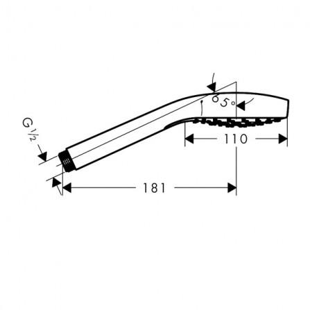 Hansgrohe Croma Select S 1jet Ecosmart Ручной душ 26806400