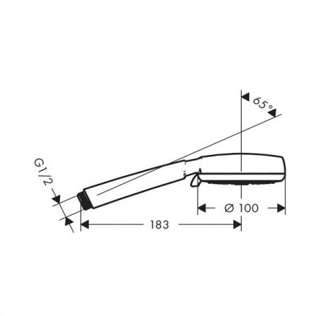 Hansgrohe Crometta 100 Multi Ecosmart Ручной душ 26826400