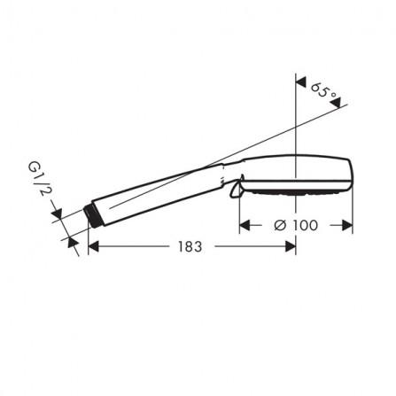 Hansgrohe Crometta 100 Vario Ecosmart Ручной душ 26827400