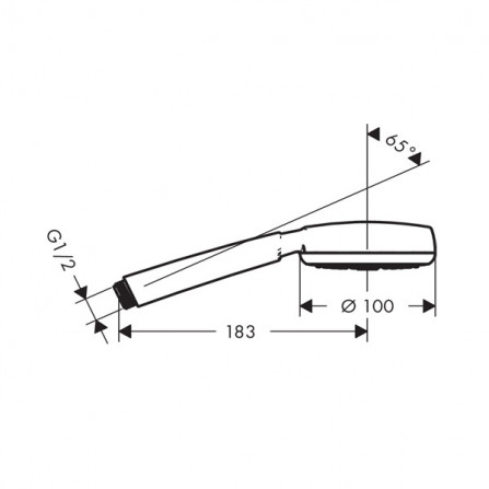 Hansgrohe Crometta 100 1jet Ecosmart Ручной душ 26828400