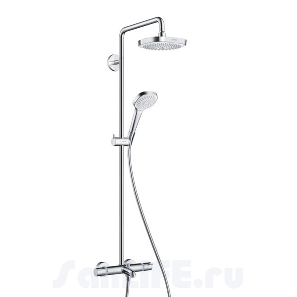 Hansgrohe Croma Select E 180 2jet Showerpipe Душевая система для ванны 27352400