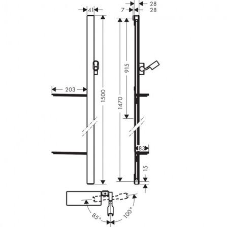 Hansgrohe Unica'E 1,5 Душевая штанга 27645600